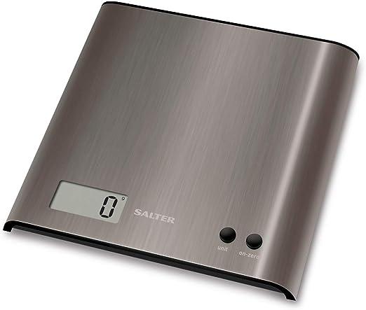 Salter 1087 SSDR Báscula de cocina digital, línea Steel y ...