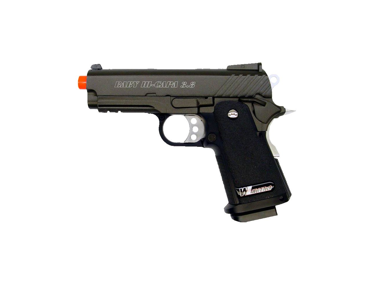 we baby hi-capa v2 3.8 gas/co2 blowback full metal(Airsoft Gun)