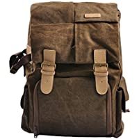 Peacechaos Waterproof Covert Dslr Rolltop Backpack/15 Inch Laptop Compartment