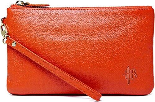 Pochette ET chargeur de téléphone Orange mandarine - Mightypurse