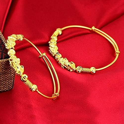 Bracelet r/étro Feng Shui Bracelet Chinois Pi Xiu Fnsky Bracelet Porte-Bonheur Cadeau de Richesse Bijou Cadeau pour Homme et Femme