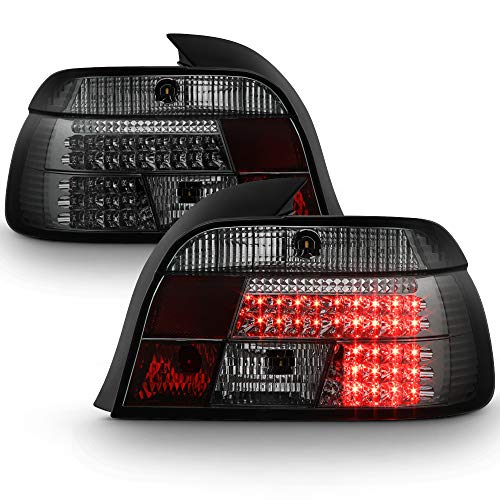ACANII - For 1997-2000 BMW E39 5-Series Lumileds LED Smoked Tail Lights Brake Lamps Driver & Passenger Side ()