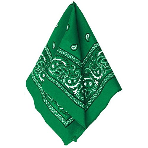 Amscan Multi-Purpose Bandana Western Cowboy Costume Party Headwear, Green, Fabric, 20