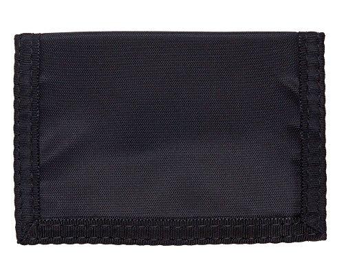 Black Nylon Tri Fold Wallet (Trifold Velcro Wallet - Black Nylon W/clear Id)