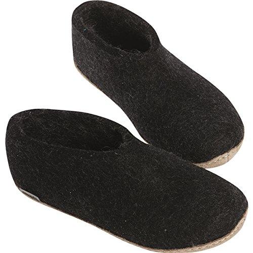 (Glerups Unisex Felt Shoes Charcoal Size 45)