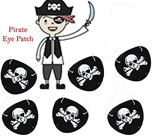 Play Kreative Pirate Eye Patch with Skull & Crossbones Black]()