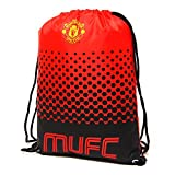 Manchester United FC Official Fade Football Crest Drawstring Sports/Gym Bag (One Size) (Red/Black) Review