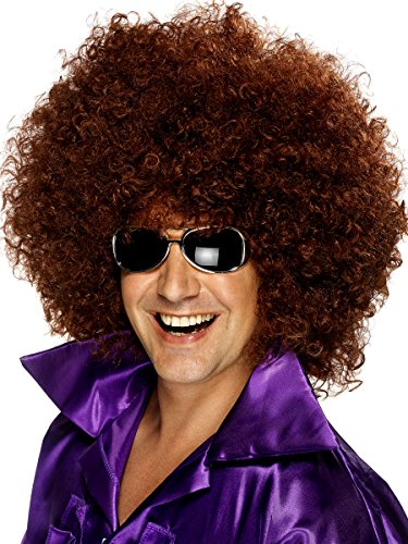 Afro Wig (Unisex) - Choose Style - #1 Afro Disco Hippie 60s 70s Wig (Brown) (Fancy Dress 80s Style)