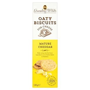 Grandma Wilds Oaty Biscuits for Cheese, Mature Cheddar, 130g Box