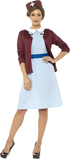 1950s Costumes- Poodle Skirts, Grease, Monroe, Pin Up, I Love Lucy Smiffys Womens Vintage Nurse Costume $64.25 AT vintagedancer.com