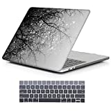 MacBook Pro 13 Case 2017 & 2016 Release A1706/A1708, iCasso Hard Case Shell Cover and Keyboard Skin Cover for Apple Newest MacBook Pro 13 Inch Retina with/Without Touch Bar and Touch ID(Gray Tree)