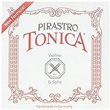 Pirastro 4120BALL Tonica Synthetic Core Violin String Set, E-Ball Envelope, 4/4 Size