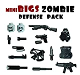 miniBIGS Zombie Defense Pack (13 Pieces) - LEGO Compatible Weapons
