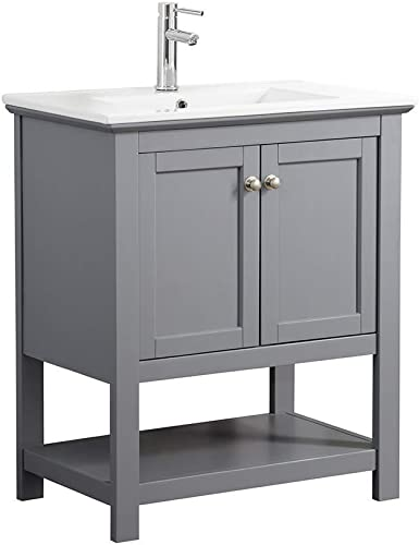 Fresca Manchester 30 Gray Traditional Bathroom Vanity Renewed