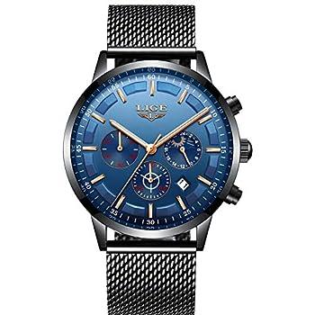 Reloj para hombre, reloj de pulsera de cuarzo analógico para hombre, cronógrafo impermeable Hombres Relojes Relojes de Pulsera Ropa, Zapatos y Joyería
