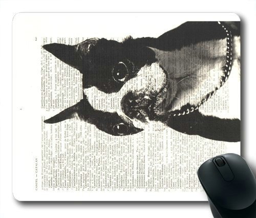 (Boston Terrier Mouse Pad, New Design Vintage Boston Terrier Dog Mouse Pad Rectangle Mousepads)