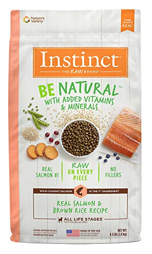 Instinct Be Natural Real Salmon & Brown Rice Recipe Natural Dry Dog Food by Nature's Variety, 24 lb. Bag Review