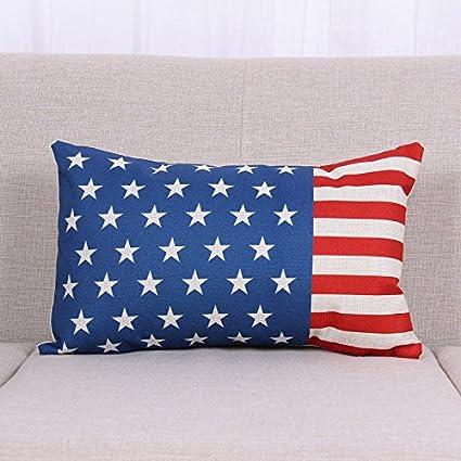 Amazon.com: Venzhe European American US Flag Pillow Case ...