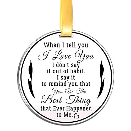 Love Ornament (Christmas Love Ornament- When I Tell You I Love You- 3 inch Flat Stainless Steel Keepsake Gift)