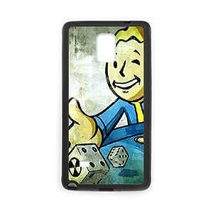 Fallout 4 Y3Q6Lj Funda Samsung Galaxy Note 4 caja del teléfono celular Funda Negro R3P7OS Genérico teléfono al caso funda Claro