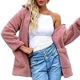 QIQIU ⭐️ Women's Artificial Hair Coat, Ladies Winter Solid Warm Zipper Parka Outerwear Jacket Clearance