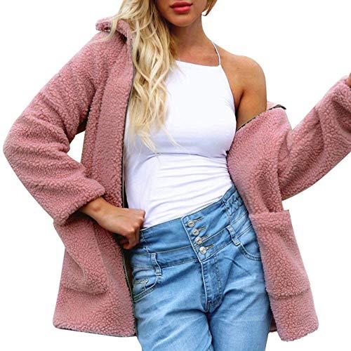 Outwear De Señoras Tops Algodón Invierno Mujer Sueltos Rebajas Suéter Rosado Chaquetas Mujer Ashop Ropa Abrigo FPq78wvv