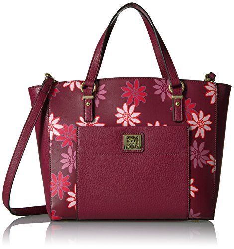 Anne Klein Perfect Tote Convertible Satchel, Merlot Multi
