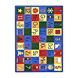 Joy Carpets Kid Essentials Early Childhood Around The Block Rug, Multicolored, 5'4'' x 7'8''