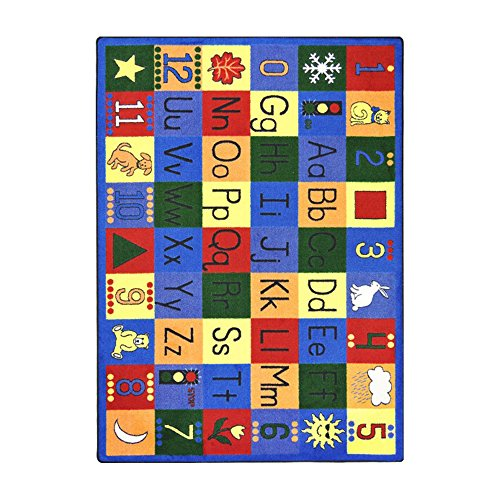 Joy Carpets Kid Essentials Early Childhood Around The Block Rug, Multicolored, 5'4'' x 7'8'' by Joy Carpets