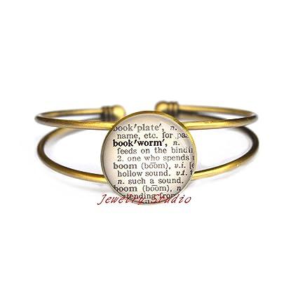 Reading Bracelet Gift for Bookworm Charming fashion Bracelet,Bookworm Bracelet Book Gifts-HZ0035 Dictionary Bracelet