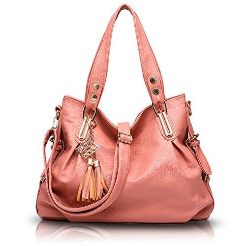 Shoulder Leather Women's Handbag Tisdaini Crossbody Soft Pink Casual Bag PU YdwAIAq