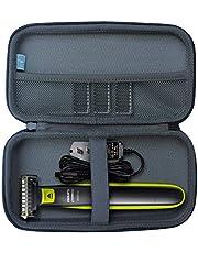 TUDIA EVA harde hoes compatibel met Philips Norelco OneBlade hybride elektrische trimmerscheerapparaat, QP2520 QP2570 [ALLEEN CASE]