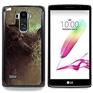 For LG G Stylo / LG LS770 / LG G4 Stylus - Wolf Hound Dog Majestic Painting Art /Modelo de la piel protectora de la cubierta del caso/ - Super Marley Shop -