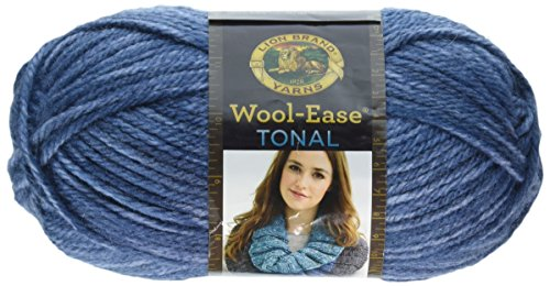 Lion Brand Yarn 635-110 Wool-Ease Tonal Yarn, Denim