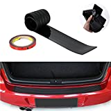 #2: HIbuy Rear Bumper Protector Stickers, Universal Black Rubber Door Sill Guard Prevent Scratches While Unloading and Loading Fits Most Cars (35.4 inch)