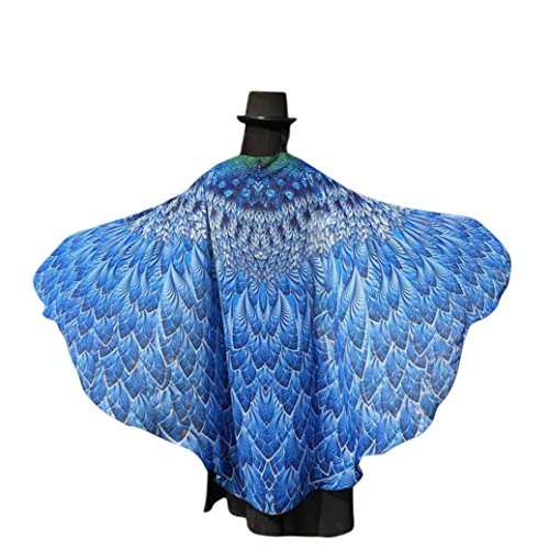 [78inch x 50inch Butterfly Wings, Kemilove Soft Peacock Wings Adult Costume Accessory (Multicolor)] (Blue Monarch Butterfly Costume)