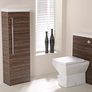 Deluxe Walnut Bathroom Furniture Cabinet Storage Unit
