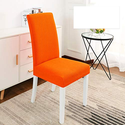 GBTRICON Velvet Plush Fabric Dining Chair Covers Removable Stretch Spandex Fleece Chair Protector Slipcovers for Wedding Party