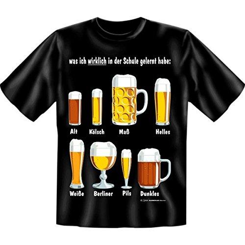 Was ich wirklich in der Schule gelernt habe Fun T-shirt Fb schwarz