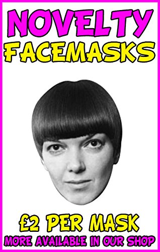 Mary Quant Novelty Celebrity Face Mask Party Mask Stag Mask