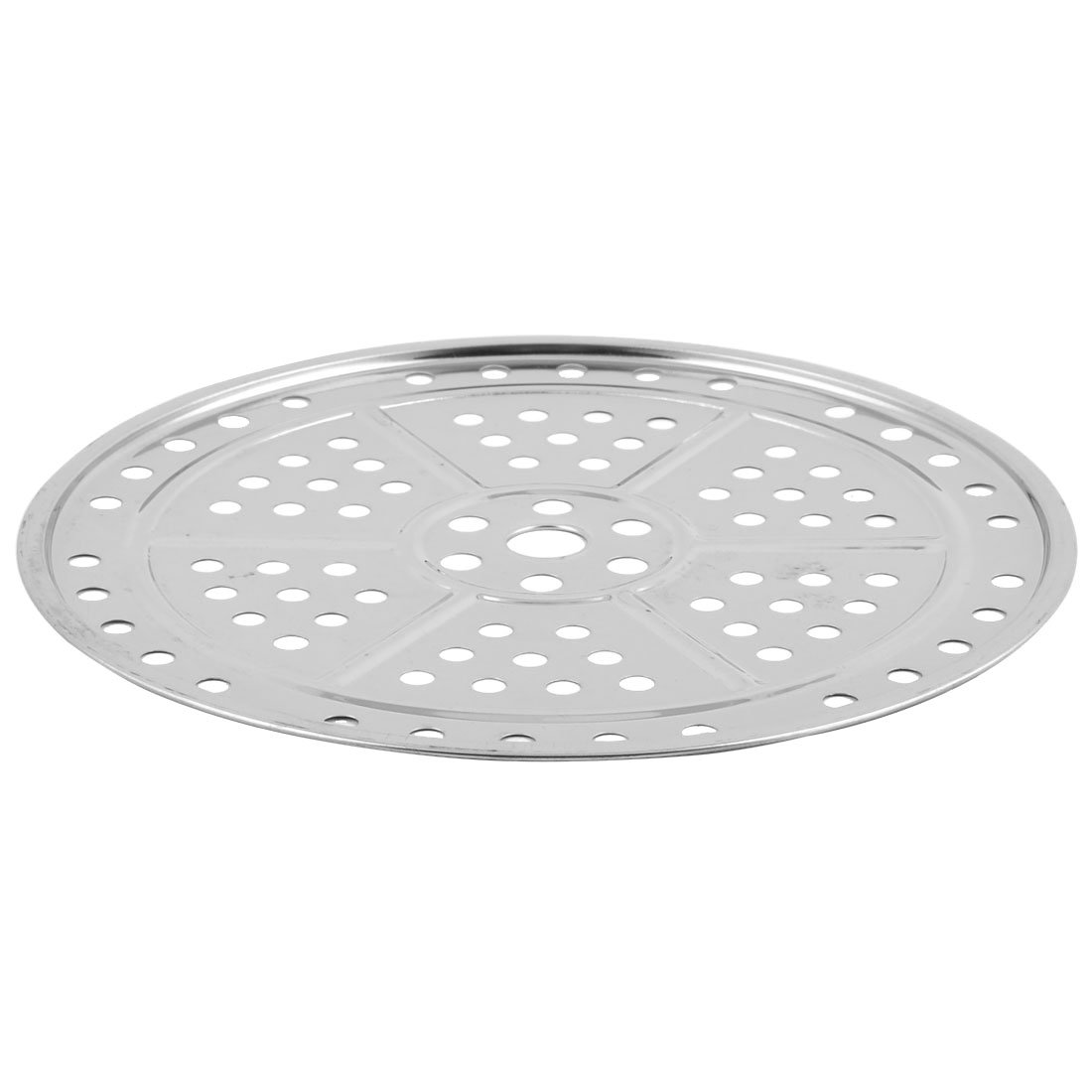 uxcell Stainless Steel Kitchen Cooking Baking Pan Steaming Food Stockpot Plate Steamer Rack 26cm Dia