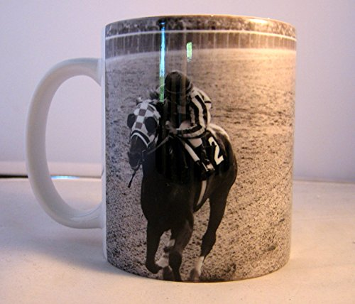 Large 15 oz Coffee or Beer Mug Unique Secretariat Ron Turcotte 1973 Belmont Triple Crown Famous Photo