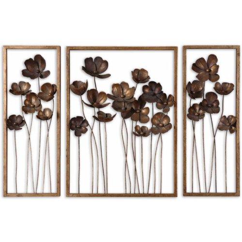 Uttermost Metal Tulips Wall Sculpture, Set of ()