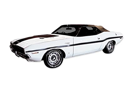 Amazon Com 1970 Dodge Challenger Decals Stripes Kit Matte Black