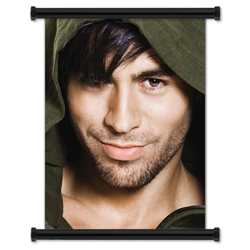 (Enrique Iglesias Sexy Spanish Pop Artist Fabric Wall Scroll Poster (16