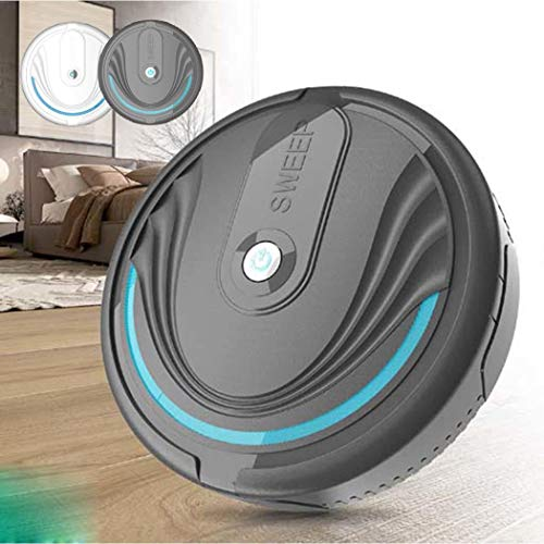 Fanxis Household Robot Vacuum Cleaner Sweeping and Mopping Robotic Vacuum Cleaning Dust and Pet Hair for All Floor Types - Battery and USB Charge - Dust Household