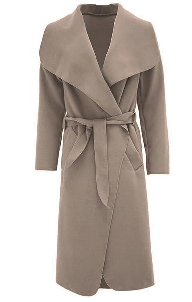Fashion Oasis Damen Mantel Beige Beige Einheitsgröße Amazonde