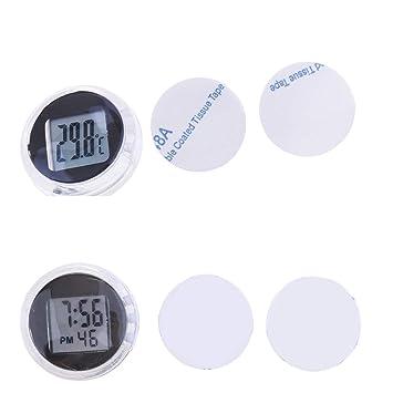 B Blesiya 1 Unid Indicador Medidor de Temperatura con Reloj digital Modificaçion: Amazon.es: Coche y moto