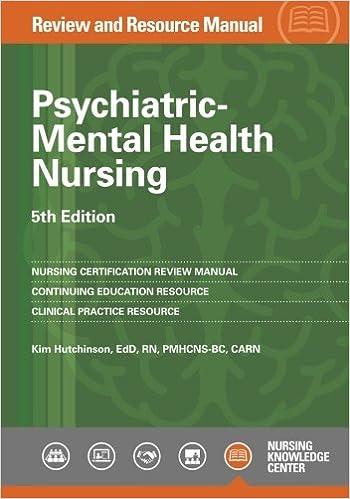 Psychiatric Mental Health Nursing Review And Resource Manual 5th