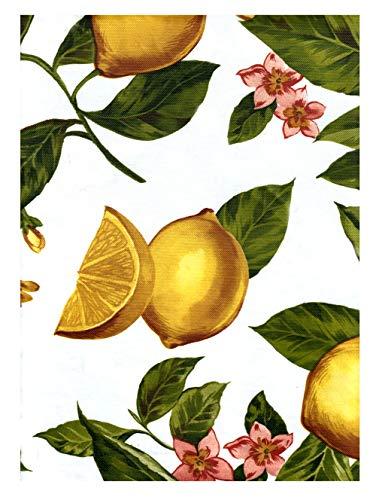 American Plastics Lemon Tablecloth Vinyl Flannel Back Table Cover (52 x 70 Rectangle)